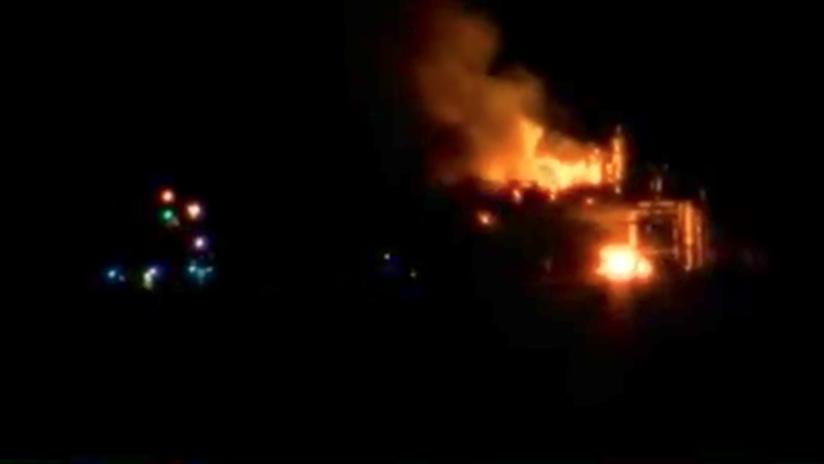 EE.UU.: Una explosión en una plataforma petrolera de Luisiana (VIDEO)
