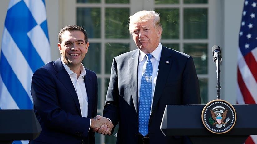 Trump vive un 'momento incómodo' en la Casa Blanca tras su reunión con Tsipras