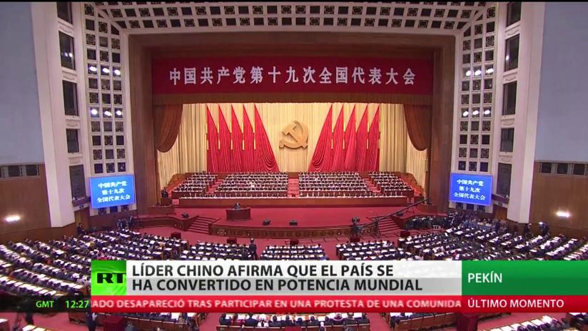 China considera que se ha convertido en una potencia mundial
