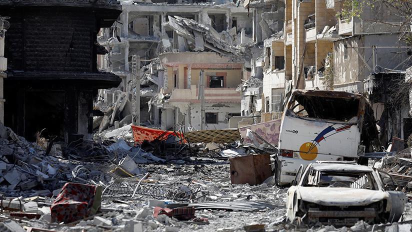 Video: Primeras imágenes de la devastación de Raqa a vista de dron