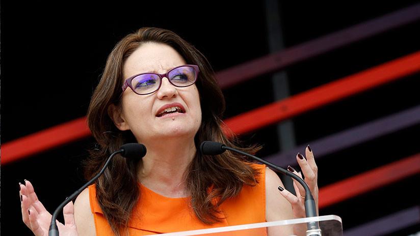 """""""El fascismo se apodera de todo"""": Ultras como en 'Scream' acosan a la vicepresidenta valenciana"""