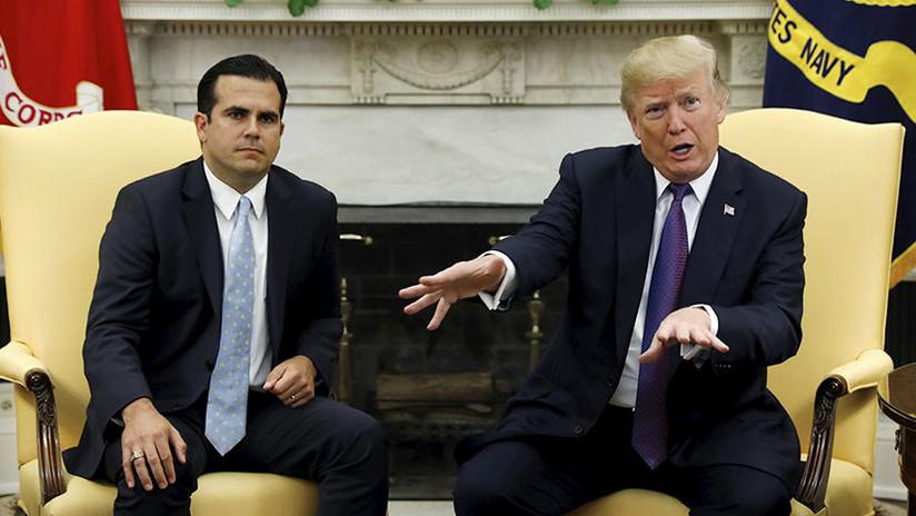 Trump se da un 10 por la respuesta de EE.UU. a los huracanes en Puerto Rico