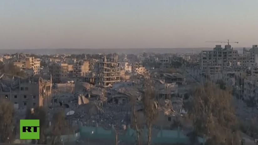VIDEO: La devastación de Raqa grabada por un dron