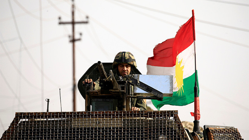 Tropas kurdas destruyen un tanque Abrams y otros vehículos en Irak