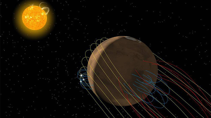 La NASA detecta un fenómeno magnético que pudo acabar con la vida en Marte