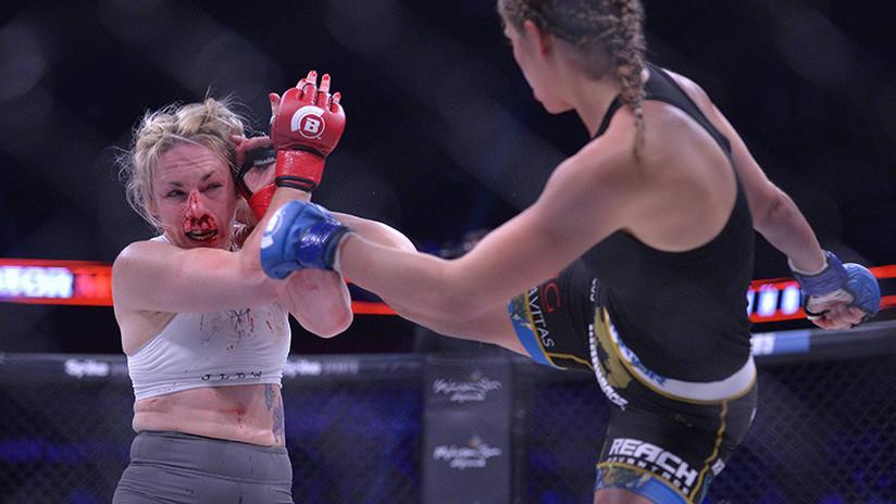 FUERTE VIDEO: Una luchadora de MMA desfigura a su rival con una potente patada