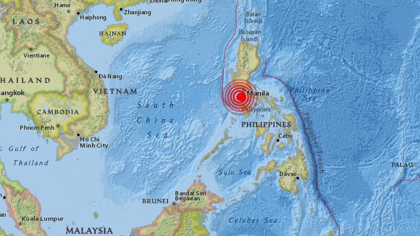 Se registra un terremoto de magnitud 5,5 en Filipinas