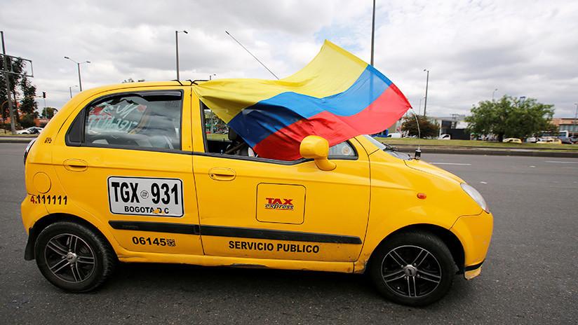 Taxistas de Bogotá inician paro nacional en Colombia (VIDEOS)