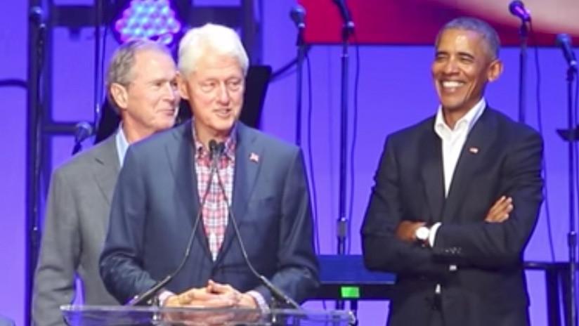 Video viral: Todos se preguntan qué le dijo George W. Bush a Obama que le hizo reír tanto