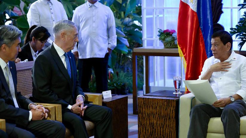 """Duterte a Mattis: """"Si liberan a una ciudad, libérenla, y no la arrasen con bombas"""""""