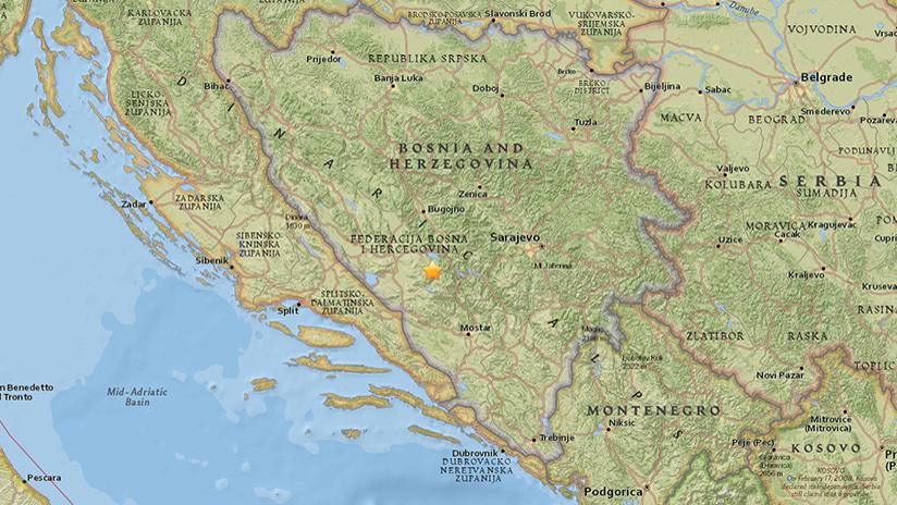 Un sismo sacude Bosnia y Herzegovina