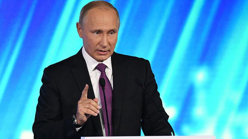 """Putin: """"Más del 90% del territorio sirio ya está libre de terroristas"""""""
