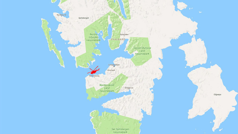 """Un helicóptero ruso cae al mar """"con ocho personas a bordo"""" en el Ártico"""