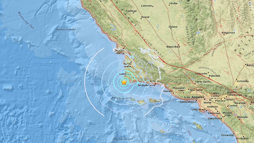 Sismo de magnitud 4,3 sacude la costa pacífica de EE.UU.