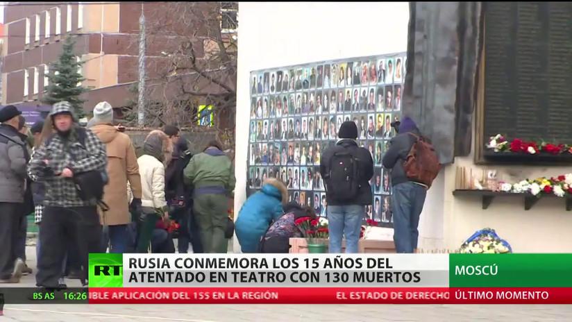 Rusia conmemora los 15 años del atentado en Moscú que dejó 130 muertos