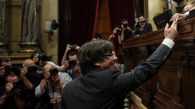 La votación por la independencia de Cataluña en el Parlament