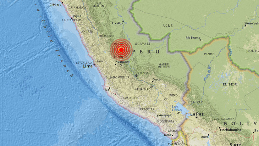 Se registra un sismo de magnitud 5,7 en Perú