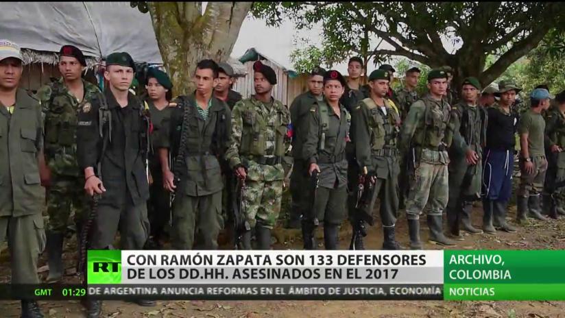 Ascienden a 133 los defensores de DD.HH. asesinados en Colombia en 2017
