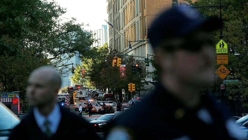Una foto con el logo del EI tomada cerca del lugar del atentado en Nueva York levanta sospechas