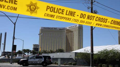 El lugar del tiroteo mortal en Las Vegas, EE.UU., el 2 de octubre de 2017.