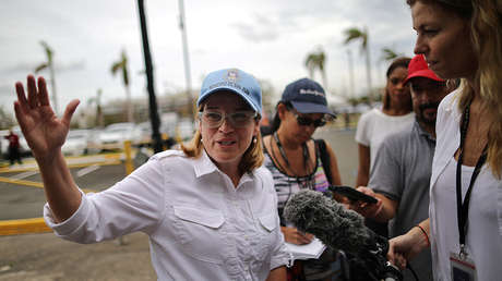 La alcaldesa sanjuanera, Carmen Yulín Cruz, en San Juan, Puerto Rico, el 30 de septiembre de 2017.