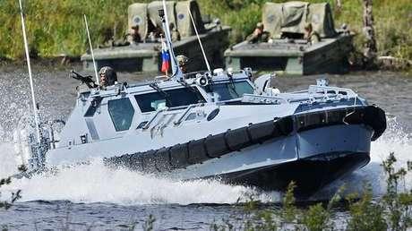 Veloz y sigilosa: Rusia presenta una nueva lancha de desembarco blindada (VIDEO)
