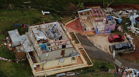 Los efectos del huracán María en los alrededores de Comerio, Puerto Rico, el 7 de octubre de 2017.