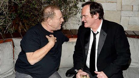 Harvey Weinstein (izquierda) y Quentin Tarantino (derecha).