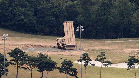 El sistema estadounidense Terminal de Defensa Aérea de Gran Altitud (THAAD) en Seongju, Corea del Sur, 13 de junio de 2017.