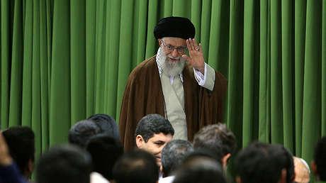 El ayatolá Alí Jameneí durante el discurso de este 18 de octubre.