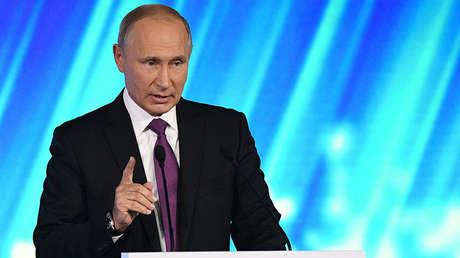 El presidente de Rusia, Vladímir Putin, el 19 de octubre de 2017.