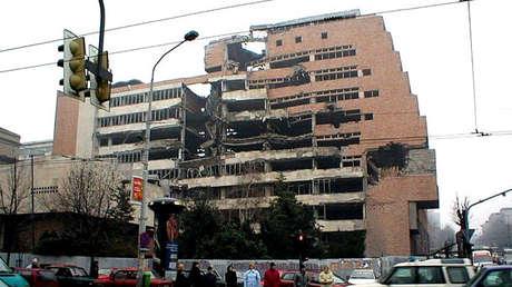 Edificio del Ministerio de Defensa en Belgrado, Serbia, 2002.