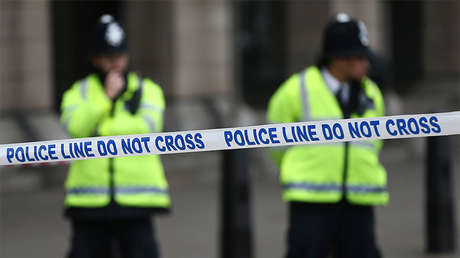 Policía del condado de Durham próximo a la ciudad de Newcastle, Reino Unido