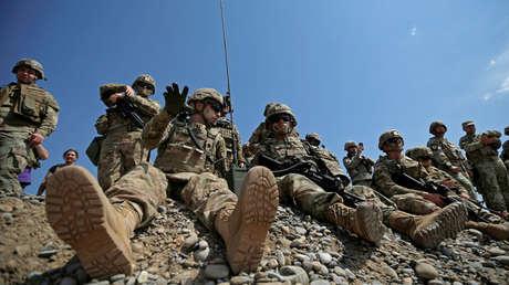 Soldados estadounidenses durante los ejercicios Noble Partner 2017 en Georgia, el 9 de agosto de 2017.