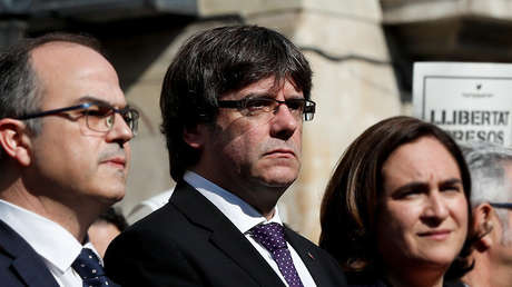 El presidente de la Generalidad, Carles Puigdemont, en Cataluña, España, el 17 de octubre de 2017.