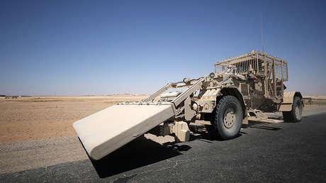 Un vehículo antiminas estadounidense, Raqa, Siria, 31 de julio de 2007.