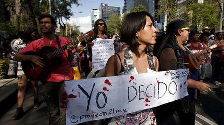 Marcha contra los feminicidios, Ciudad de México, 24 de abril de 2016.