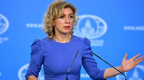 La portavoz del Ministerio de Exteriores ruso, María Zajárova.