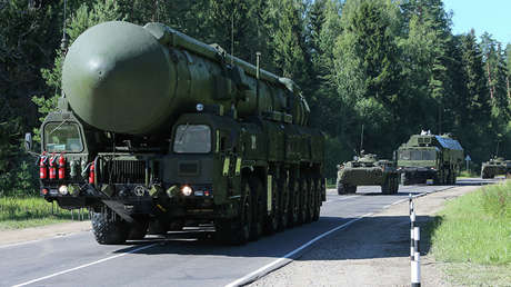 La lanzadera rusas de misiles intercontinentales Yars