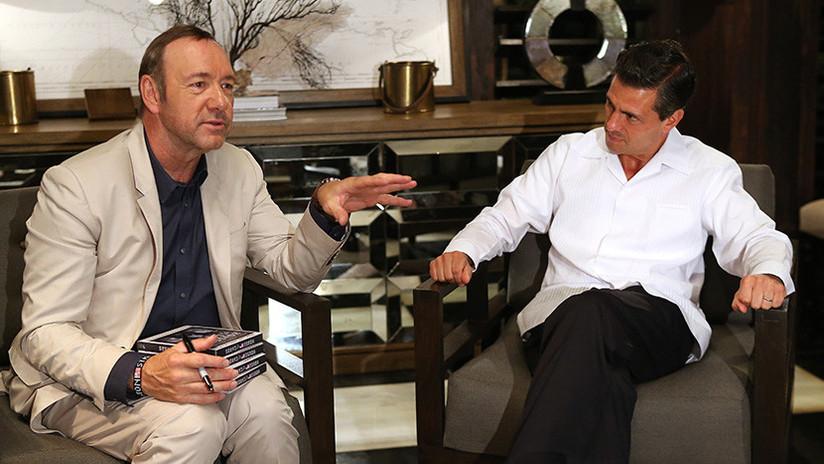 Peña Nieto y Kevin Spacey, las fotos que hicieron estallar las redes sociales en México