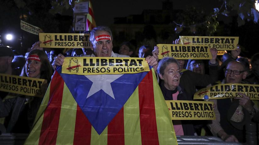 VIDEO: Arranca una manifestación independentista en Barcelona