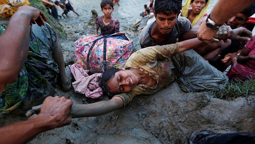 Desgarradoras imágenes: Los rohinyás, víctimas de una guerra que les obliga a huir de su patria