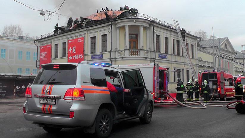 Moscú: Se produce un incendio en el Museo Estatal de Artes Plásticas Pushkin (FOTO, VIDEO)