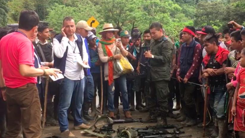 """Indígenas colombianos a RT: """"La Policía nos está disparando, tenemos las pruebas"""" (FOTOS Y VIDEO)"""