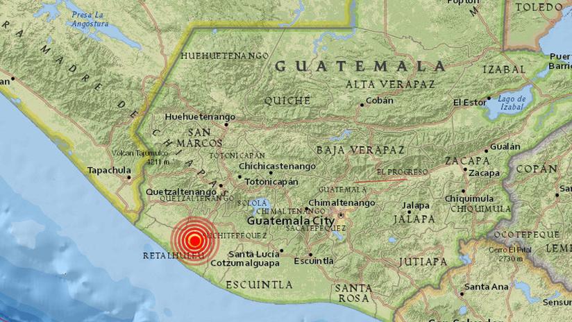 Guatemala: Se produce un terremoto de magnitud 5,1