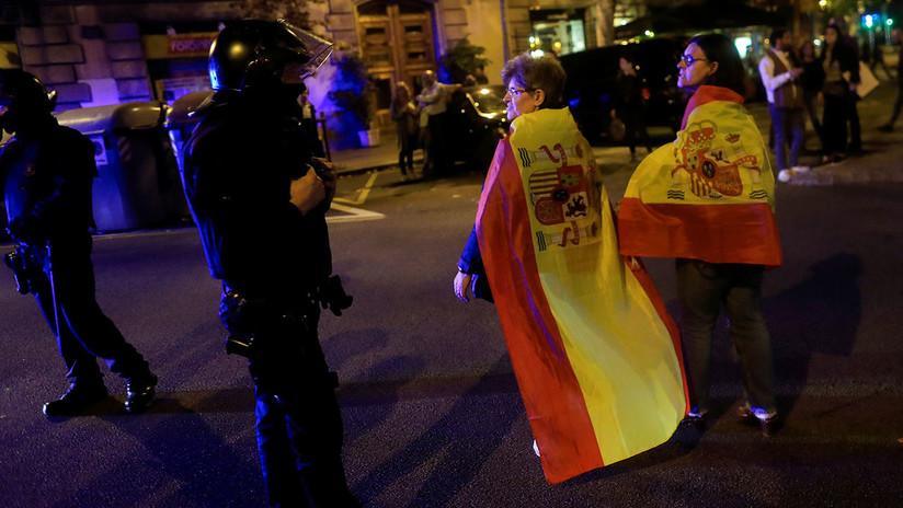 """""""No en nuestro nombre"""": Manifestación en Barcelona a favor de la unidad de España (VIDEO)"""
