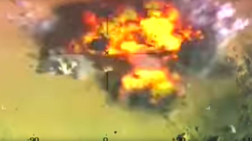 VIDEO: Un ataque aéreo hace volar en pedazos a terroristas del Estado Islámico en Egipto