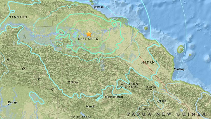 Fuerte terremoto de 6,5 en Papúa Nueva Guinea