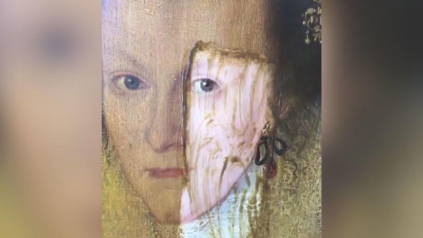 Antes y después: La restauración de un cuadro jacobino deja al descubierto detalles asombrosos