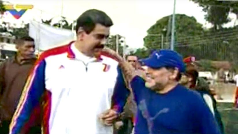 Maradona juega un partido de fútbol con Nicolás Maduro (VIDEO)
